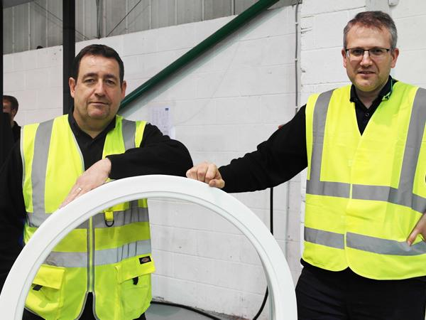 First arched frames manufactured at our new in-house bending facility!