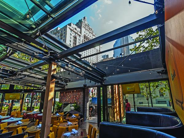 The first Landing Group restaurant with our retractable roof in downtown Toronto