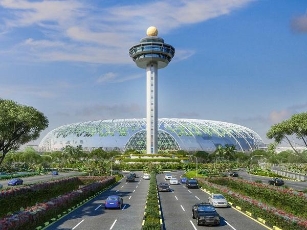 SOLARBAN glass specified for Jewel Changi Airport in Singapore