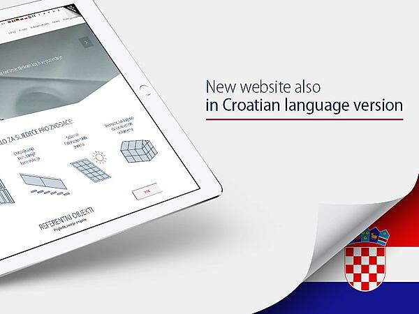New website also in Croatian language version