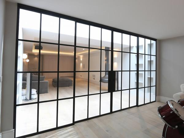 Quarrendon Street: Basement Extension Using Mondrian Internal Doors