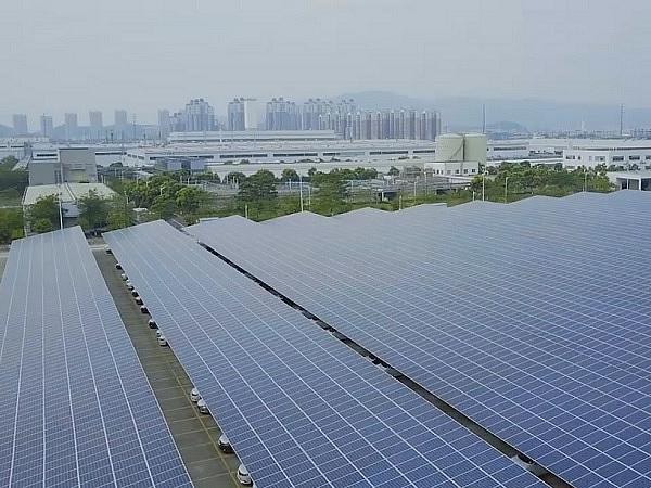 JinkoSolar Provides 29.64MW of Solar Panels for one of the World's Largest Solar Canopy in Dongfeng Nissan Factory in China