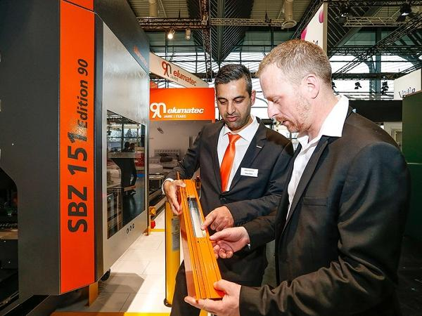 One of the highlights at the show: Special anniversary SBZ 151 Edition 90 profile machining centre Image copyright: elumatec AG, Mühlacker
