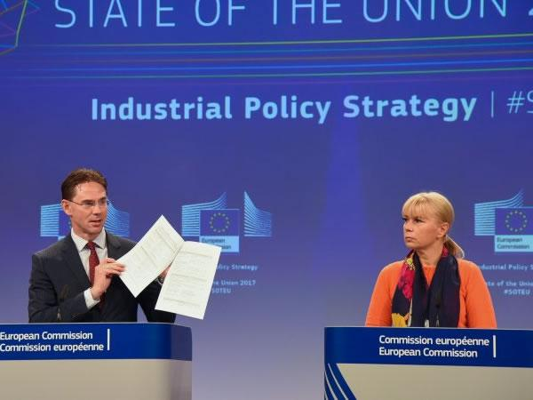 Critics said the EU's industrial strategy didn't go far enough. [European Commission]