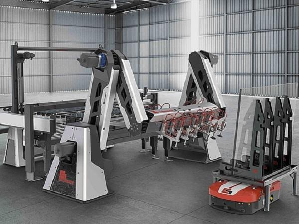 Combined with the accumulator, conveyor line and Automated Guided Vehicles (AGV), the Tin-Air-Speed-Stacker shows numerous advantages.