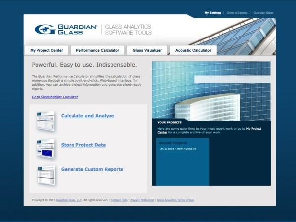 Guardian Glass in Europe launches new Glass Analytics tool to replace the Guardian Configurator for improved glass performance analysis.