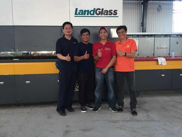 LandGlass Glass Tempering Machine in Cambodia