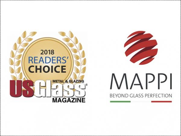 Mappi wins 2018 USGlass Magazine Reader's Choice Award