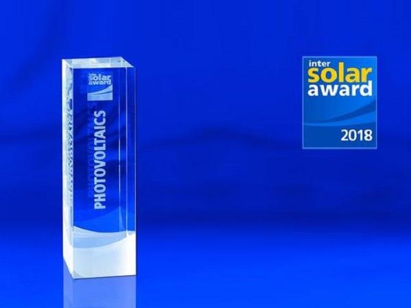 Intersolar AWARD 2018: The finalists have been confirmed