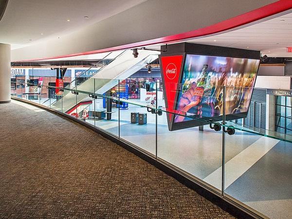 Trex commercial products little caesars arena elevates for Motor city casino little caesars