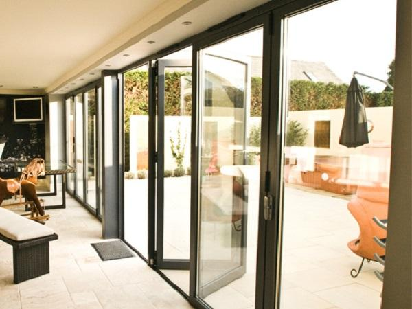 Modern aluminium bifold doors for new build projects