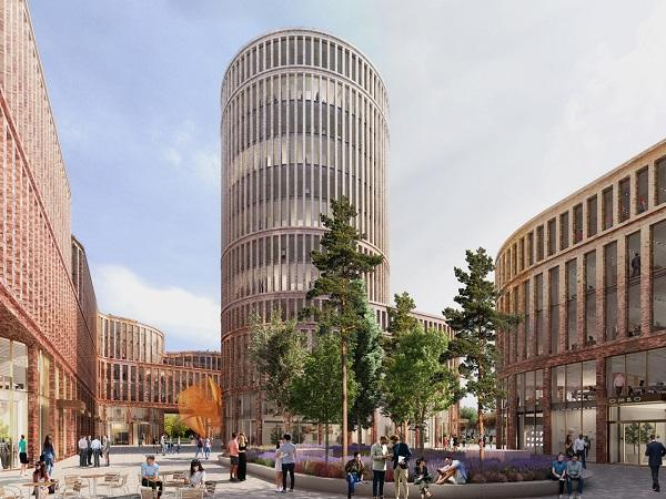 MVRDV reveal Fabryczna Offices, a contemporary office building in the New City Centre of Łódź