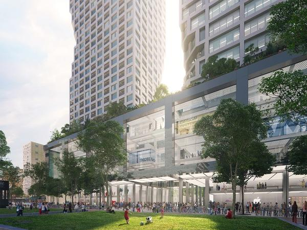 MVRDV win competition for 50,000 m² mixed-use building Weenapoint in Rotterdam Central District