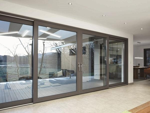 The new Schüco LivIngSlide lift-and-slide door system benefits from efficient fabrication and installation.
