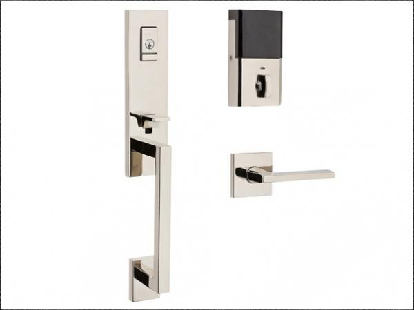 Minneapolis style handle and lock set in Satin Nickel finish. (Photo: Business Wire)