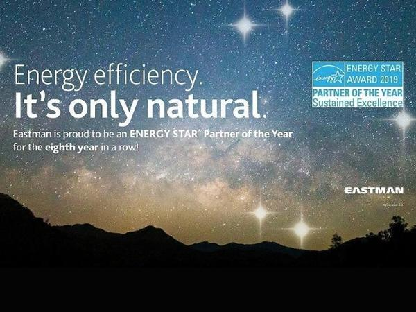 Eastman Receives Eighth Consecutive ENERGY STAR® Partner of the Year Award