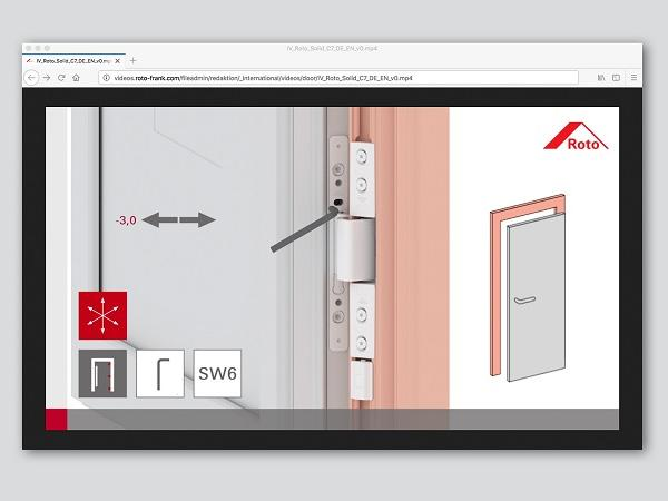 "Roto's new door hinge impresses with innovations: foolproof installation with ""Roto Solid C"""