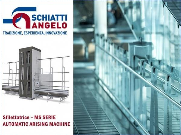 Schiatti Angelo: Automatic Arrising Machine for the processing of arrisses and flat edge grinding