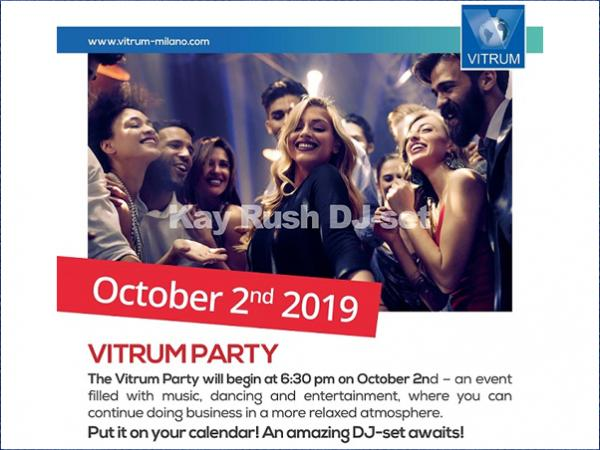 Come join the Vitrum party the party on Wednesday!