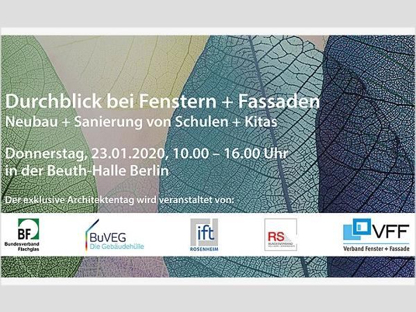 The 1st Architects' Day of the ift Rosenheim takes place on 23.1.2020 in Berlin