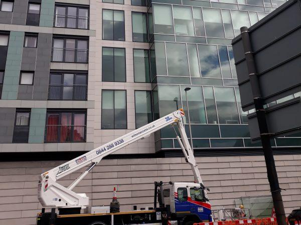 Large glazed office frontage replacement job completed in Glasgow