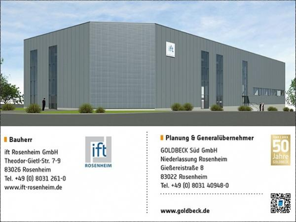 New laboratory in Rosenheim for testing building acoustics + facades (Source: ift Rosenheim)