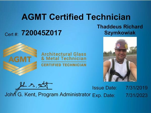 AGMT Program Officially Certifies First Round of Glaziers