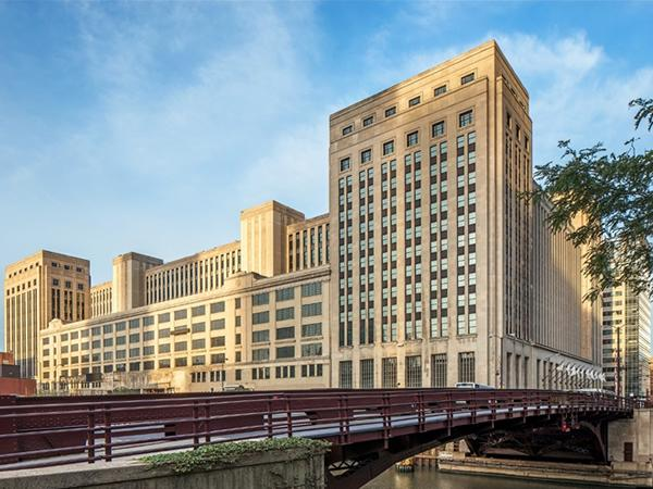 SOLARBAN 60 glass meets the historic landmark, energy efficiency demands for historically accurate renovated windows at the Old Chicago Post Office