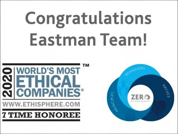 Eastman Named as One of the 2020 World's Most Ethical Companies by Ethisphere