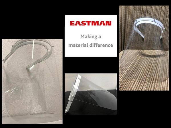 Eastman donates material for face shield production