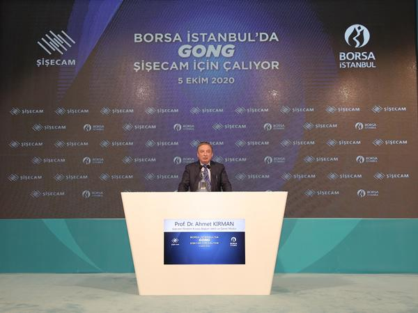 The opening bell rings for Şişecam on Borsa Istanbul