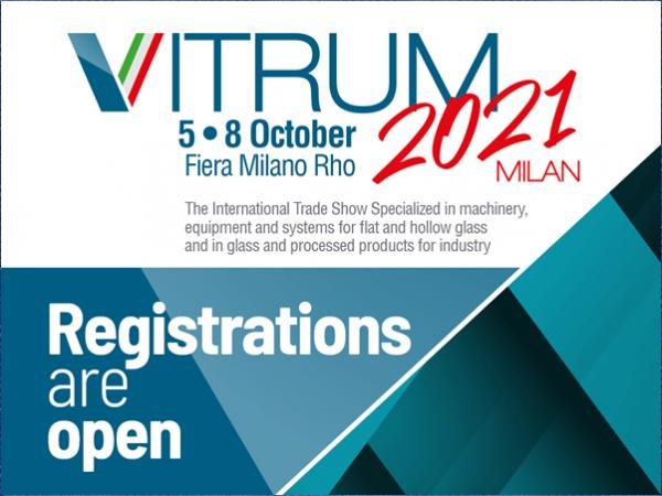 Registrations are now open for Vitrum 2021