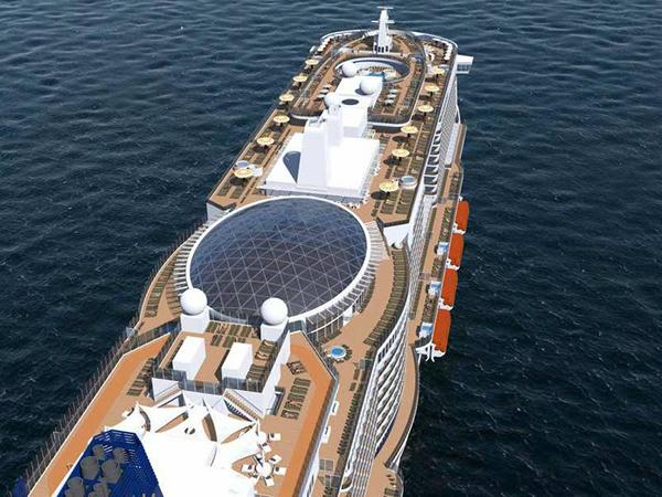 SkyDome promises to be one of Iona's star attractions, providing guests with a magical venue. Image © P&O Cruises