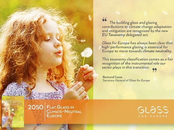 Building glass and glazing covered by the EU Taxonomy Climate Delegated Act