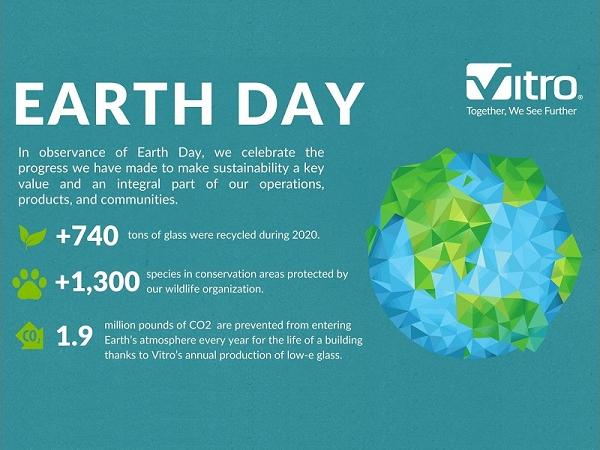 Vitro Architectural Glass celebrates commitment to sustainability in recognition of Earth Day