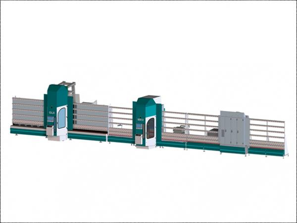 Vertical processing line for flat glass | LiSEC combiFIN